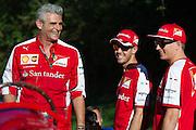 September 3-5, 2015 - Italian Grand Prix at Monza: Sebastian Vettel (GER), Ferrari, Ferrari, Maurizio Arrivabene, team principal of Scuderia Ferrari, Kimi Raikkonen (FIN), Ferrari