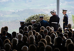 Guards of honor carry the casket of former U.S. First Lady Nancy Reagan at the Ronald Reagan Presidential Library in Simi Valley, California, March 11, 2016. Nancy Reagan's funeral was held here on Friday morning. She died of heart failure last Sunday at the age of 94. EXPA Pictures © 2016, PhotoCredit: EXPA/ Photoshot/ Yang Lei<br /> <br /> *****ATTENTION - for AUT, SLO, CRO, SRB, BIH, MAZ, SUI only*****