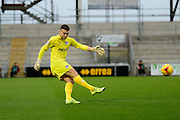 Portsmouth goal keeper Paul Jones during the Sky Bet League 2 match between Northampton Town and Portsmouth at Sixfields Stadium, Northampton, England on 19 December 2015. Photo by Dennis Goodwin.