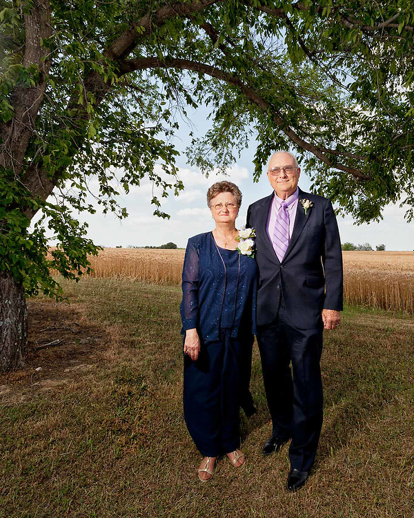 Ted and Sarah Vitek at their 50th wedding celebration in Elgin, Texas.