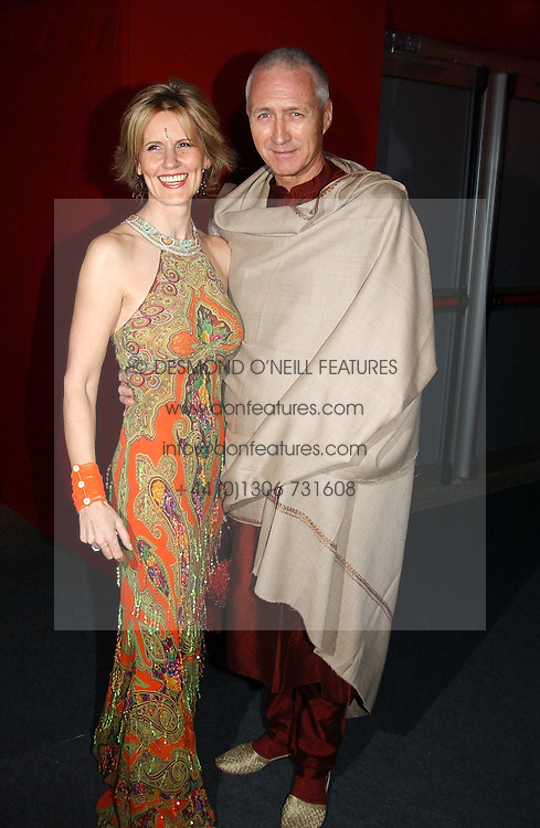 Fashion designer LINDKA CIERACH  and LANCELOT PEAWHISTLE at the 10th annual British Red Cross London Ball.  This years ball theme was Indian based - &quot;Yaksha - Yakshi: Doorkeepers to the Divine&quot; and was held at The Room, Upper Ground, London on 1st December 2004.  Proceeds from the ball will aid vital humanitarian work, including HIV/AIDS projects that the Red Cross supports in the UK and overseas.<br />