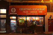 6 March 2013. Brooklyn, NY. Christina's Restaurant in Greenpoint. 3/6/2013. Photo by Gabrielle Sierra/CUNY Wire Service