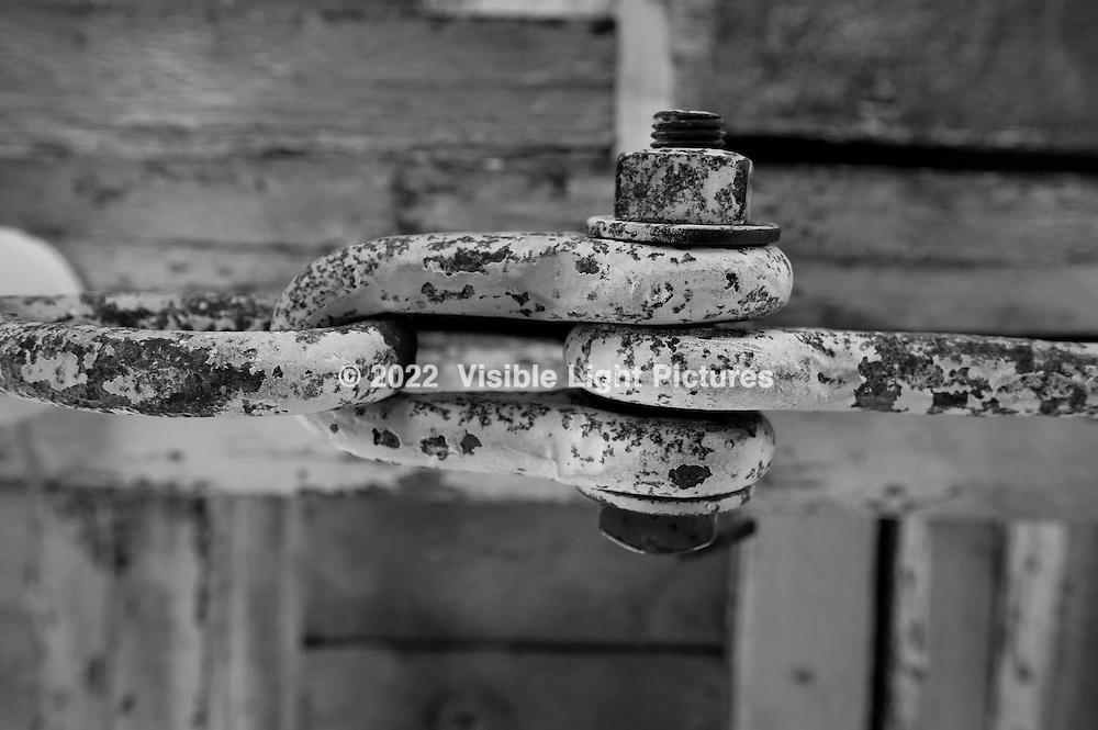 Shackle spanning the roof of an old Shaker barn.