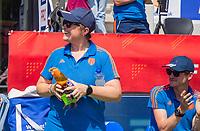 AMSTELVEEN - bondscoach Alyson Annan (Ned)   voor   de Pro League hockeywedstrijd dames, Nederland-Australie (3-1) COPYRIGHT  KOEN SUYK
