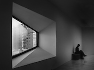 Seen at the Met Breuer, a branch of the Metropolitan Museum of Art,  designed by  architect Marcel Breuer. The building opened in 1966 as the Whitney Museum of art, and was taken over by the Met  in 2016 after the Whitney moved to a new location. The windows are my favorite features of this building.