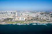 Aerial Photography of Charles Clore Park and the Mediterranean Sea, Tel Aviv, Israel