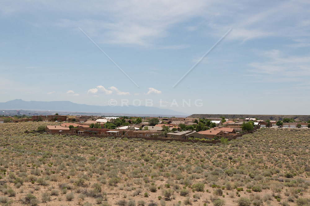 Suburban development in Albuquerque, New Mexico