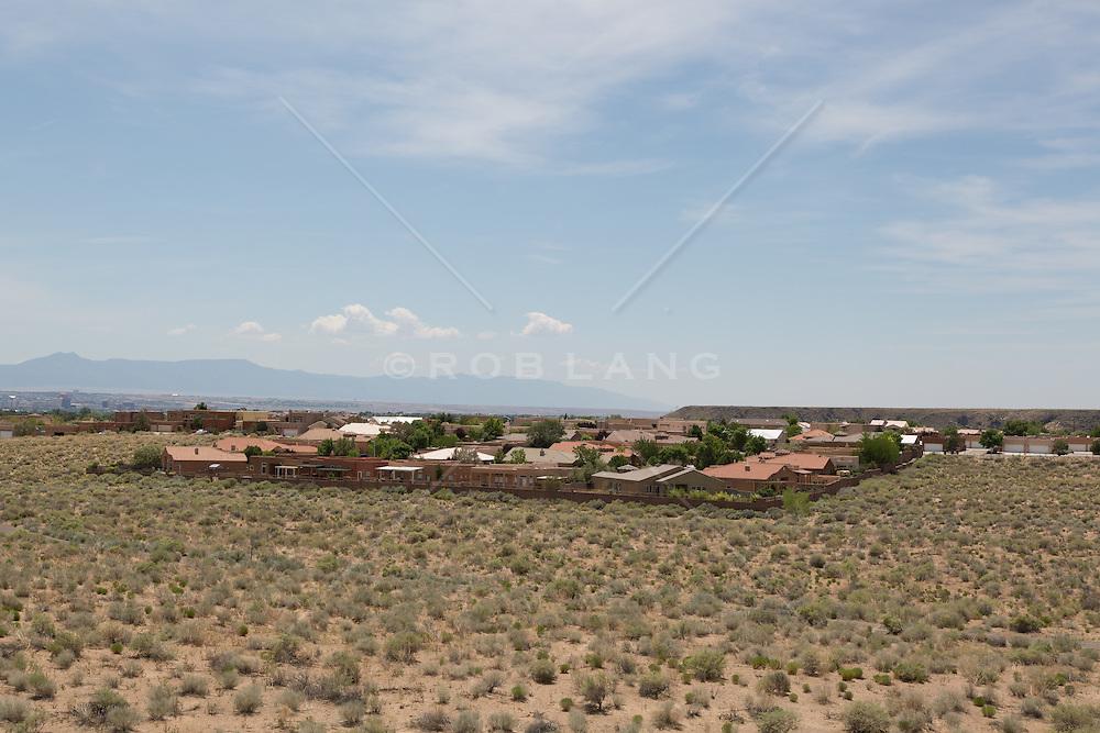 Suburban development in Albuquerque, New Mexico
