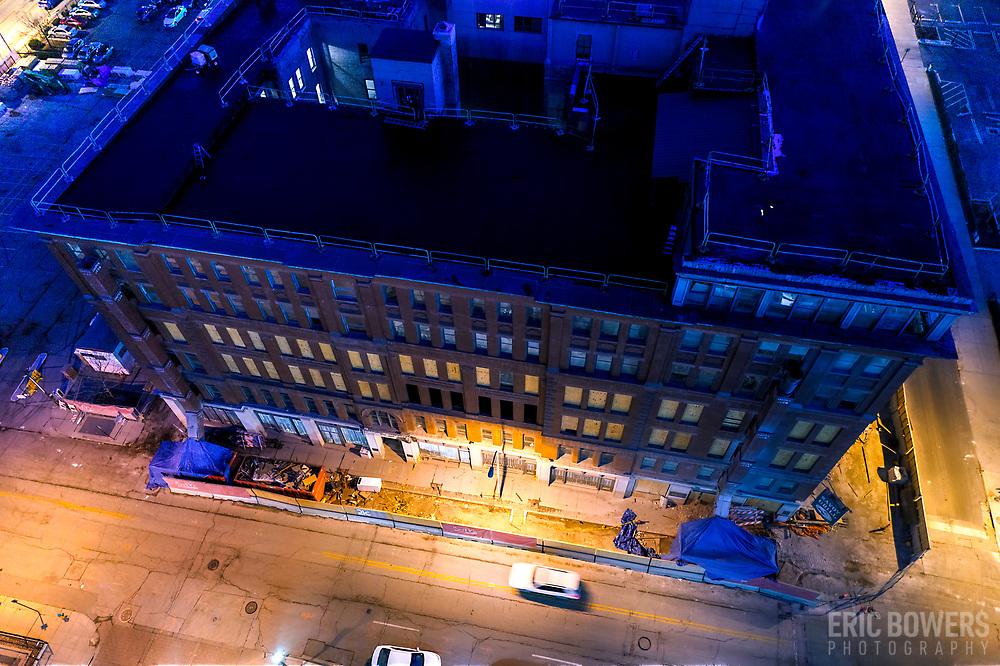 Hotel Savoy in downtown Kansas City, Missouri under renovation by 21 C Museum Hotels.