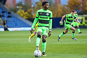 Forest Green Rovers Reece Brown(10) on the ball during the The FA Cup 1st round match between Oxford United and Forest Green Rovers at the Kassam Stadium, Oxford, England on 10 November 2018.