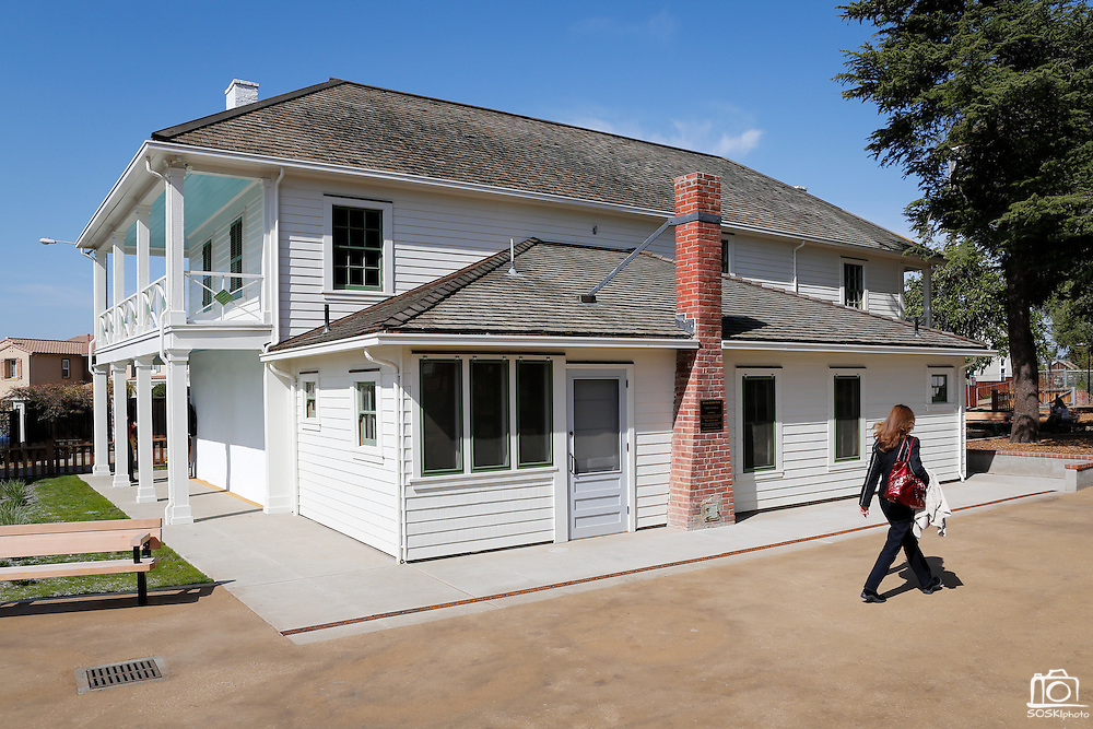 Visitors tour the recently restored historic property during the Alviso Adobe Park opening ceremony at Alviso Adobe Park in Milpitas, California, on March 16, 2013. (Stan Olszewski/SOSKIphoto)
