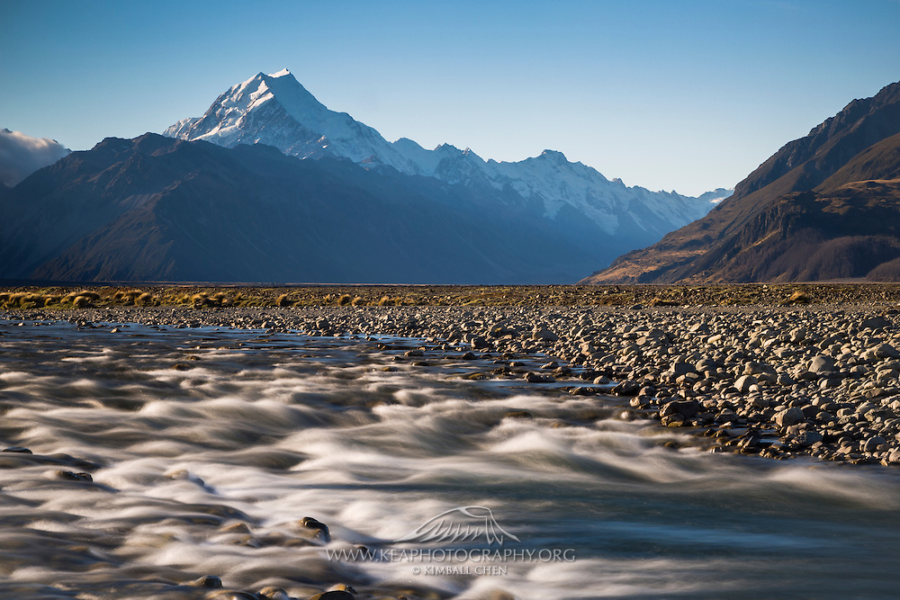 Tasman River and Mt Cook, MacKenzie Country, New Zealand
