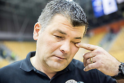 Gregor Cvijic, head coach of RK Gorenje after the handball match between RK Celje Pivovarna Lasko and RK Gorenje Velenje in Eighth Final Round of Slovenian Cup 2015/16, on December 10, 2015 in Arena Zlatorog, Celje, Slovenia. Photo by Vid Ponikvar / Sportida