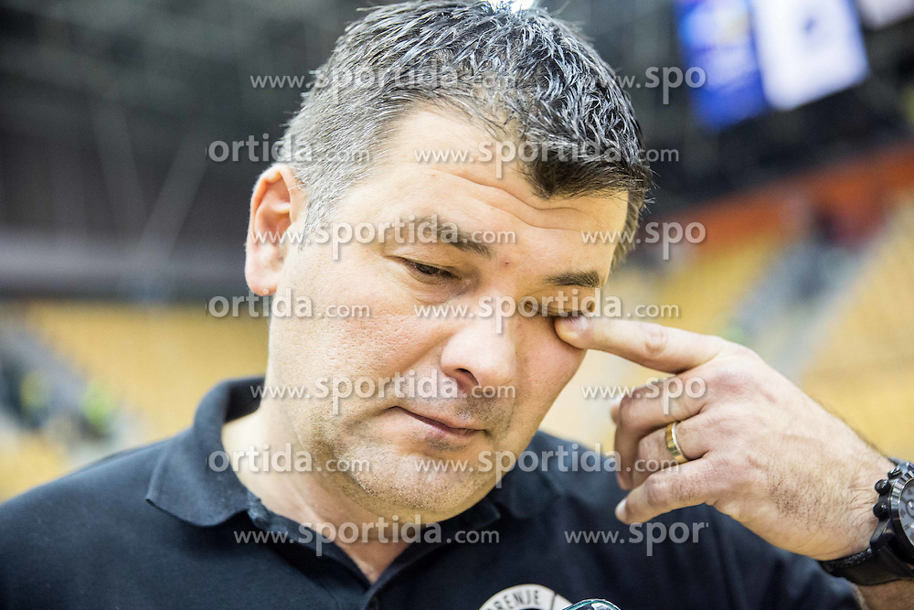 Gregor Cvijic, head coach of RK Gorenje after the handball match between RK Celje Pivovarna Lasko and RK Gorenje Velenje in Eighth Final Round of Slovenian Cup 2015/16, on December 10, 2015 in Arena Zlatorog, Celje, Slovenia. Photo by Vid Ponikvar / Sportida