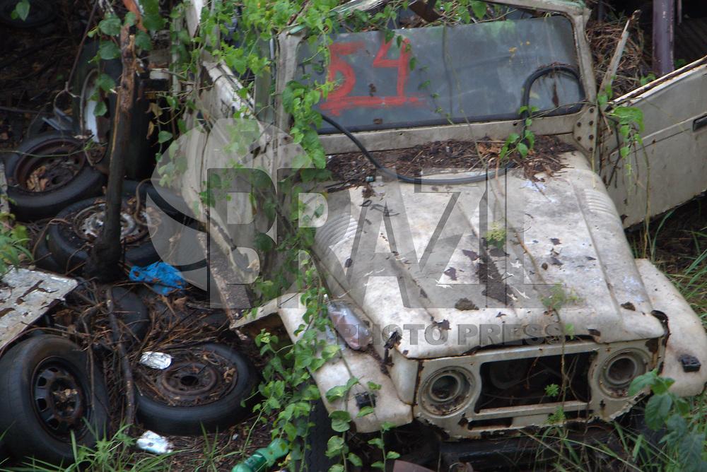 BELO HORIZONTE,MG, 30.09.2017 – CIDADE-MG – Carros antigos, são vistos em terreno, no bairro Nova Suíça, regional Oeste, em Belo Horizonte, neste sábado, 30. (Foto: Doug Patricio/Brazil Photo Press)