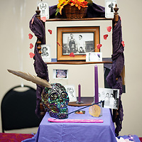 This ofrenda by Alex Moe came in second place at the Día de los Muertos alter competition Friday at the El Morro Event center.