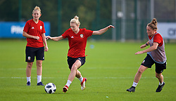 NEWPORT, WALES - Friday, October 5, 2018: Wales' Rhiannon Roberts during a training session at Dragon Park. (Pic by David Rawcliffe/Propaganda)