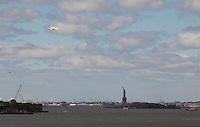 ©2012 John Muggenborg / muggphoto The Space Shuttle Enterprise is flown near ground zero and the Statue of Liberty while on the back of a 747 transport plane. 04-27-12
