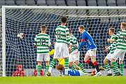 Nathan Young-Coombes (#9) of Rangers FC scores the winning goal during the Scottish FA Youth Cup Final match between Celtic and Rangers at Hampden Park, Glasgow, United Kingdom on 25 April 2019.