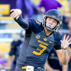 Oct 1, 2016; Baton Rouge, LA, USA;  Missouri Tigers quarterback Drew Lock (3) before a game against the LSU Tigers at Tiger Stadium. Mandatory Credit: Derick E. Hingle-USA TODAY Sports
