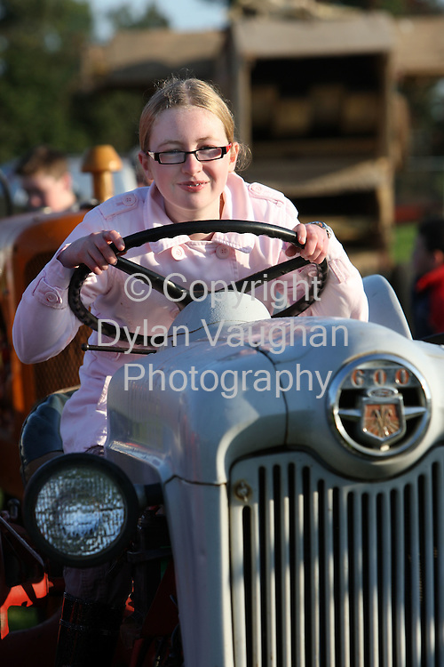 23/9/2008.Kellie Gleeson aged 12 from the Kells Road in Kilkenny pictured at the National Ploughing Championships in Kilkenny yesterday..Picture Dylan Vaughan