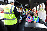 """Keep Safe"" road show comes to Galway school children .Over one hundred and twenty children have attended a 'Keep Safe' event in Scoil Chaitríona, Renmore, Co. Galway.  A range of state agencies and organisations came together to deliver the programme which is directed at 5th and 6th class pupils.  It aims to promote safety and community awareness through involving the children in a series of interactive scenarios with a strong safety theme. Bus Eireann had Dusty the Turkey on DVD on the BUS!  Photo:Andrew Downes."