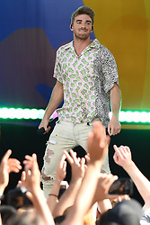 August 10, 2018 - New York, New York, U.S. - Drew Taggart of The Chainsmokers performing on Good Morning America's Summer Concert Series in Central Park on August 10, 2018 in New York City. (Credit Image: © Kristin Callahan/Ace Pictures via ZUMA Press)
