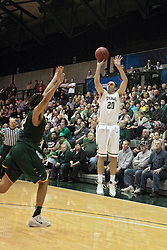 08 March 2014:  Pat Sodemann during an NCAA mens division 3 2nd Round Playoff basketball game between the St Norbert Green Knights and the Illinois Wesleyan Titans in Shirk Center, Bloomington IL