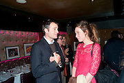 BEN GOLDSMITH; KATE GOLDSMITH, Bitch- Auction and fundraiser for the dog charity Care. The Cuckoo Club, London. 7 December 2010. -DO NOT ARCHIVE-© Copyright Photograph by Dafydd Jones. 248 Clapham Rd. London SW9 0PZ. Tel 0207 820 0771. www.dafjones.com.