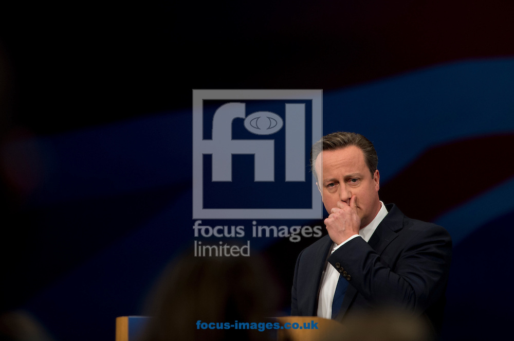 British Prime Minister David Cameron speaks at the Conservative Party Conference at Manchester Central, Manchester<br /> Picture by Russell Hart/Focus Images Ltd 07791 688 420<br /> 07/10/2015