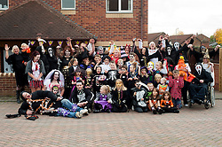 Guinness Northern Counties Housing Associations Godley Street  Scheme Hold a Halloween Street Party..30 October 2010 .Images © Paul David Drabble