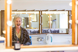 Behind the scenes at Charlie and the Chocolate Factory.<br /> Roni Page in her dressing room at the Theatre Royal Drury Lane where the cast of Charlie and the Chocolate Factory are getting ready for another show before this week's opening night.<br /> London, United Kingdom      <br /> 19th June 2013<br /> Picture by Helen Maybanks / i-Images