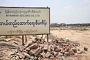 Construction area for the hotel zone. Nap Pyi Taw, Myanmar. 2012