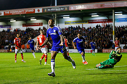 Kenedy of Chelsea celebrates scoring a goal to make it 1-3 - Mandatory byline: Rogan Thomson/JMP - 07966 386802 - 23/09/2015 - FOOTBALL - Bescot Stadium - Walsall, England - Walsall v Chelsea - Capital One Cup.