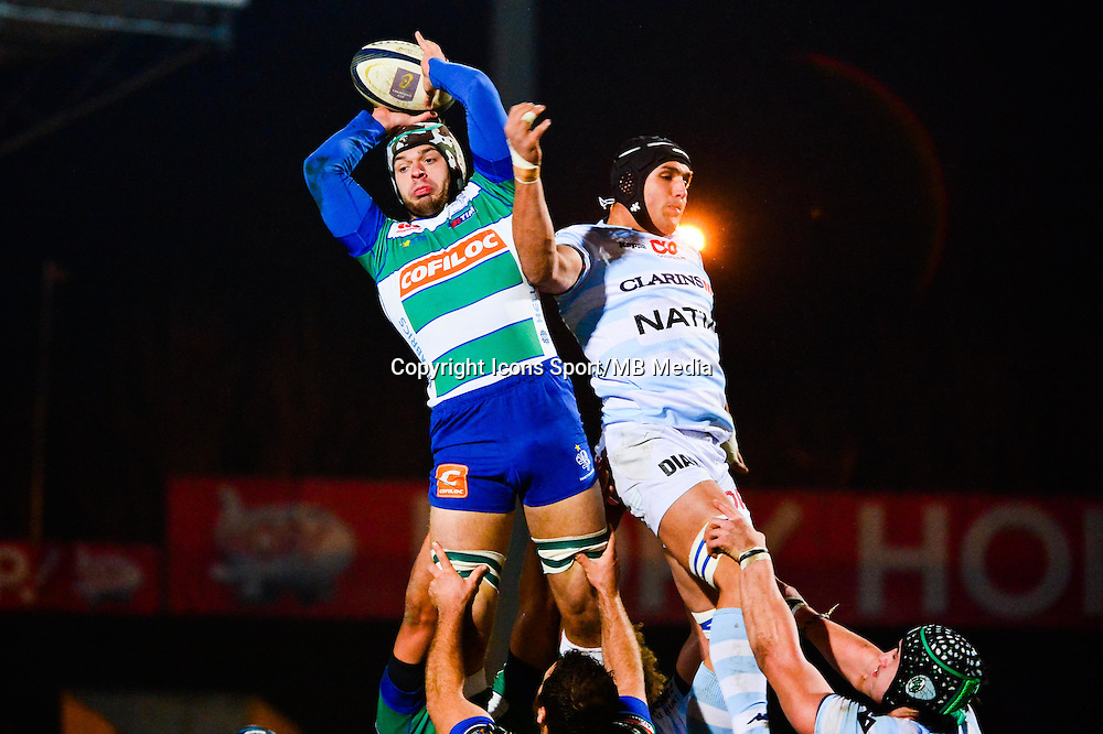 Marco BARBINI / Juandre KRUGER  - 18.01.2015 - Racing Metro 92 / Trevise - European Champions Cup<br /> Photo : Dave Winter / Icon Sport