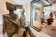 Christies London unveils Open House 2014. A collection of over 100 'masterpieces' chosen by quality and not necessarily price. They will be offered for sale over the summer season of auctions and will be on display for free to the public until 17th June. Works include: An Egyptian painted limestone statue, 'Sekhemka', circa 2450-2300 (estimate: £4-6 million) and Sitting Couple on a Bench by Lynn Chadwick (pictured) are to star in a free, five-day curated exhibition. Christies, King St, London.