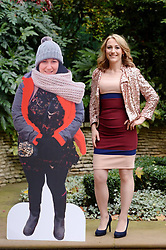 Hollie Barrett,30, from Blunderston in Suffolk, poses with a cardboard cut-out of her former self after being named Slimming World's Woman of the Year 2016 following a weight loss of 8st 6lbs, at The Ritz hotel, London.