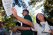 18356The Freshman Convocation 9/03/2007..Rick McKenney & Jocelyn Vivona from the men's & women's Crew