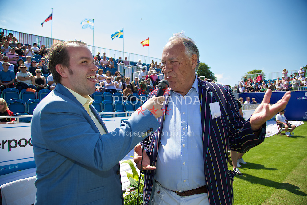 LIVERPOOL, ENGLAND - Saturday, June 21, 2014: A sponsor during Day Three of the Liverpool Hope University International Tennis Tournament at Liverpool Cricket Club. (Pic by David Rawcliffe/Propaganda)