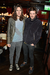 Left to right, ERIC WEBBER and JAMIE REYNOLDS from the Klaxons at a birthday party for Kyle De'Volle hosted by Rita Ora at Bo Lang, 100 Draycott Avenue, London SW3 on 29th November 2013.