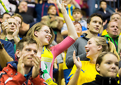 Fans of Celje during handball match between RK Celje Pivovarna Lasko (SLO) and Rhein-Neckar Loewen (GER) in Round 6 of EHF Champions League 2014/15, on November 23, 2014 in Arena Zlatorog, Celje, Slovenia. Photo by Vid Ponikvar / Sportida
