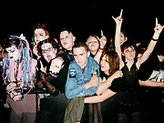 Crowd at the front of a Marilyn Manson show, London, 2001.