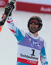 17.02.2013, Planai, Schladming, AUT, FIS Weltmeisterschaften Ski Alpin, Slalom, Herren, 2. Durchgang, im Bild Mario Matt (AUT, 3. Platz) // 3th place Mario Matt of Austria reacts after 2nd run of the mensSlalom at the FIS Ski World Championships 2013 at the Planai Course, Schladming, Austria on 2013/02/17. EXPA Pictures © 2013, PhotoCredit: EXPA/ Johann Groder