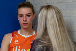 11–01-2020 NED: Semi Final Olympic qualification tournament women Germany - Netherlands, Apeldoorn<br /> First semi final match Germany - Netherlands 3-0 / Britt Bongaerts #12 of Netherlands