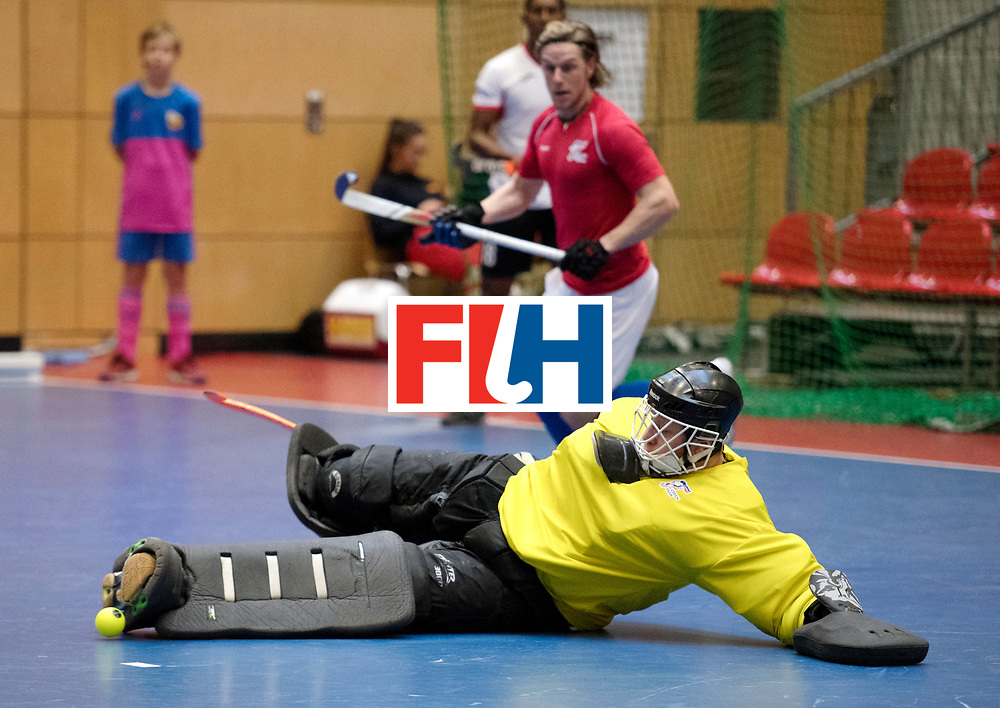 BERLIN - Indoor Hockey World Cup<br /> Czech Republic - Trinidad &amp; Tobago<br /> foto: HRABA Pavel (GK).<br /> WORLDSPORTPICS COPYRIGHT FRANK UIJLENBROEK