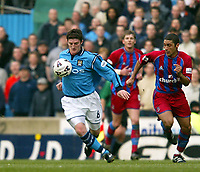 Fotball: Manchester City Jon Macken in action on his home debut against Crystal Palace. Saturday March 16th 2002.<br />Foto: David Rawcliffe, Digitalsport