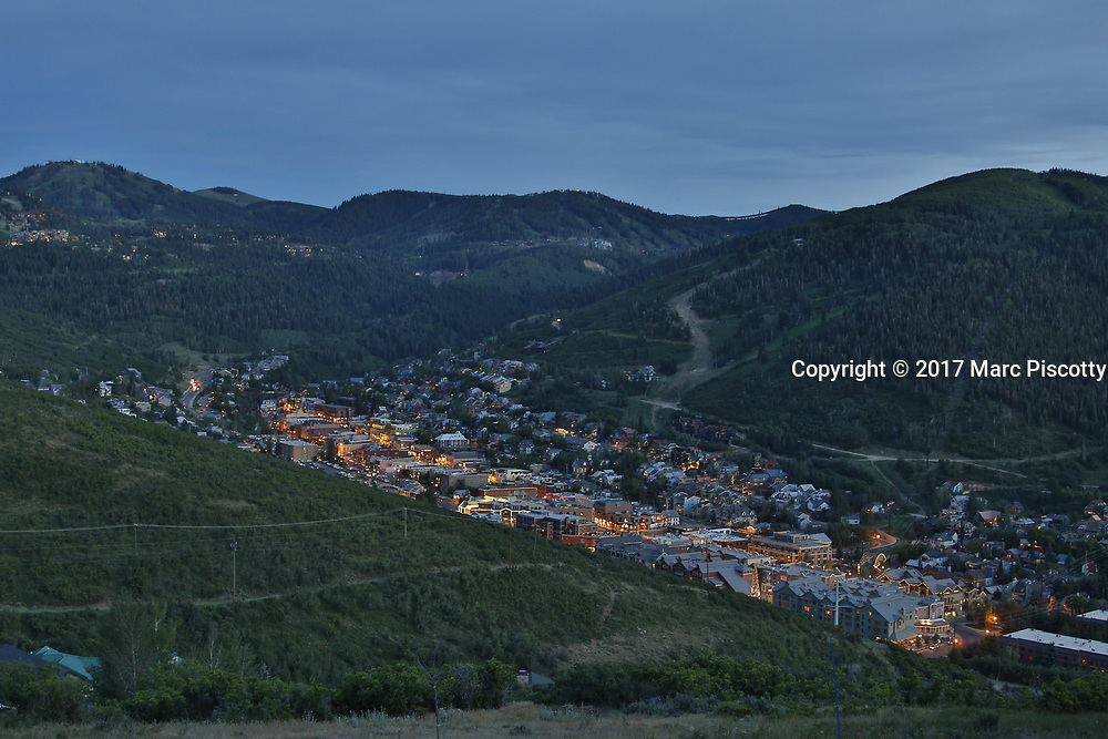 SHOT 7/1/17 8:24:56 PM - Park City lies east of Salt Lake City in the western state of Utah. Framed by the craggy Wasatch Range, it's bordered by the Deer Valley Resort and the huge Park City Mountain Resort, both known for their ski slopes. Utah Olympic Park, to the north, hosted the 2002 Winter Olympics and is now predominantly a training facility. In town, Main Street is lined with buildings built during a 19th-century silver mining boom. (Photo by Marc Piscotty / © 2017)