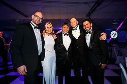 Lisa Knights poses with Chris and Jamie Sanigar from the Bristol Boxing Gym at Bristol Sport's Annual Gala Dinner at Ashton Gate Stadium - Mandatory byline: Rogan Thomson/JMP - 08/12/2015 - SPORT - Ashton Gate Stadium - Bristol, England.