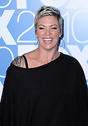 Mia Michaels poses at the Fox 2010 Upfronts after-party at Wollman Rink in New York City on May 17, 2010...