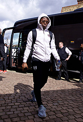 LONDON, ENGLAND - Sunday, March 17, 2019: Fulham's Denis Odoi arrives before the FA Premier League match between Fulham FC and Liverpool FC at Craven Cottage. (Pic by David Rawcliffe/Propaganda)